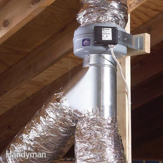 Use An In Line Fan To Vent Two Bathrooms Bathroom Exhaust Fan Bathroom Exhaust Bathroom Vent