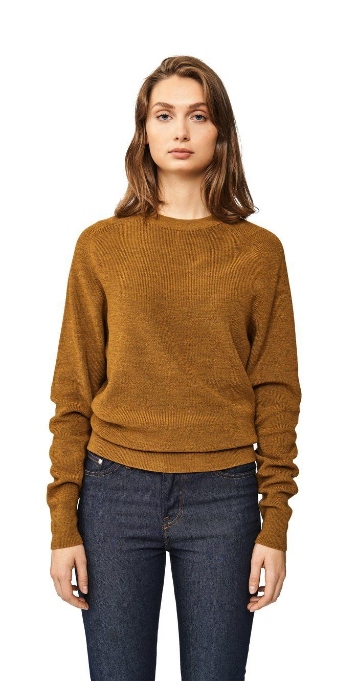 Women/'s Cozy Knitted Cashmere Sweater Crew Neck Fuzzy Pullover Slim Fit Wool