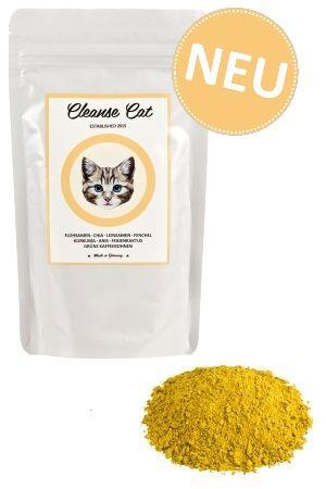 CLEANSE CAT - Flohsamen - Chia - Leinsamen - Fenchel - Kurkuma - Anis - Feigenkaktus - Grüne Kaffeebohnen