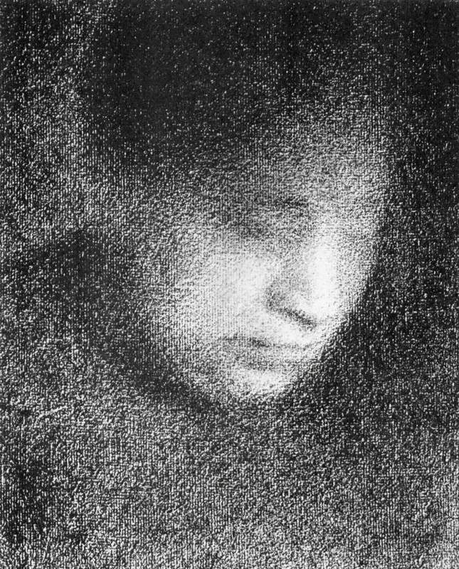Seurat's mother by Seurat. Atmospheric and feels like photographic grain