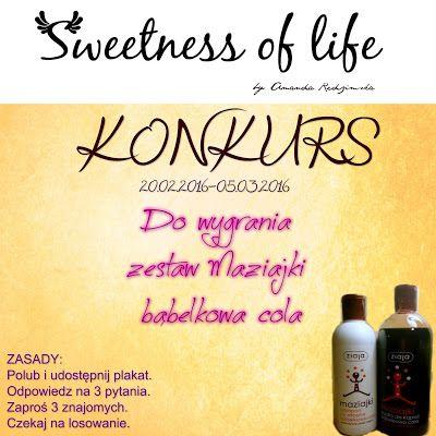 Sweetness of life: Konkurs urodzinowy