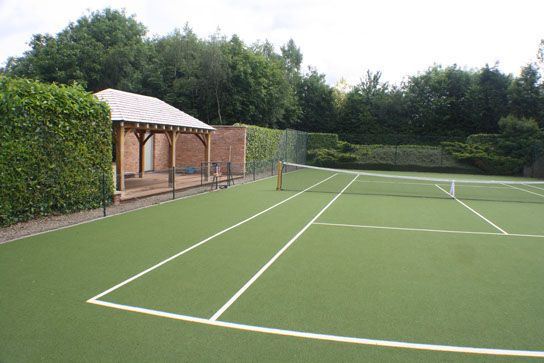 88 best images about tennis court on pinterest stone for Average cost to build a pavilion