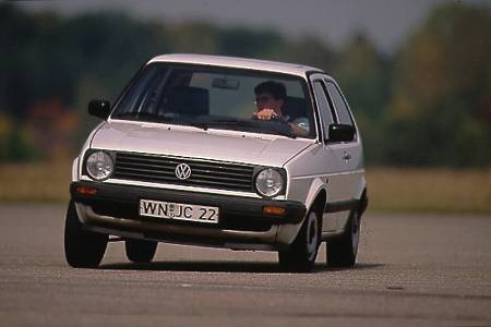 VW Golf 2 in white - my first car