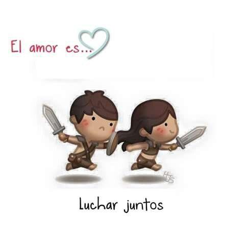 El amor.... Es eso y mas,en Las buenas y en las malas Siempre juntos ✨