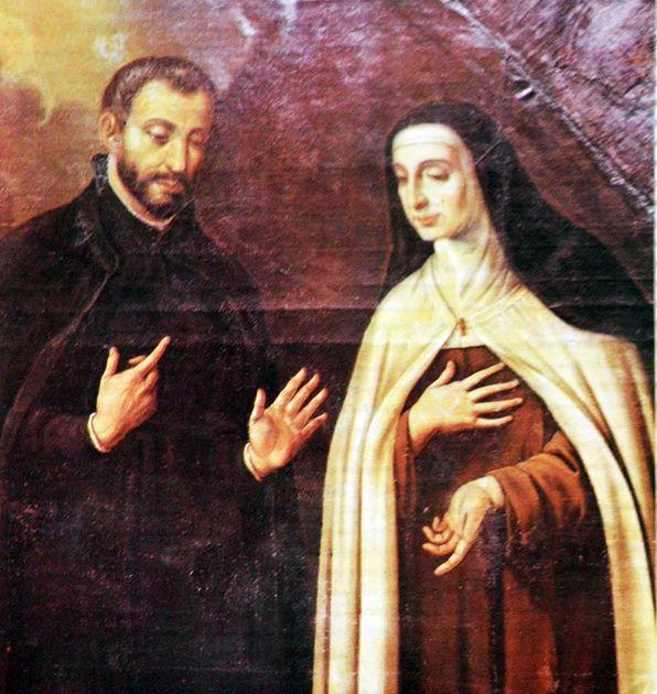 Santa Teresa con Baltasar Álvarez
