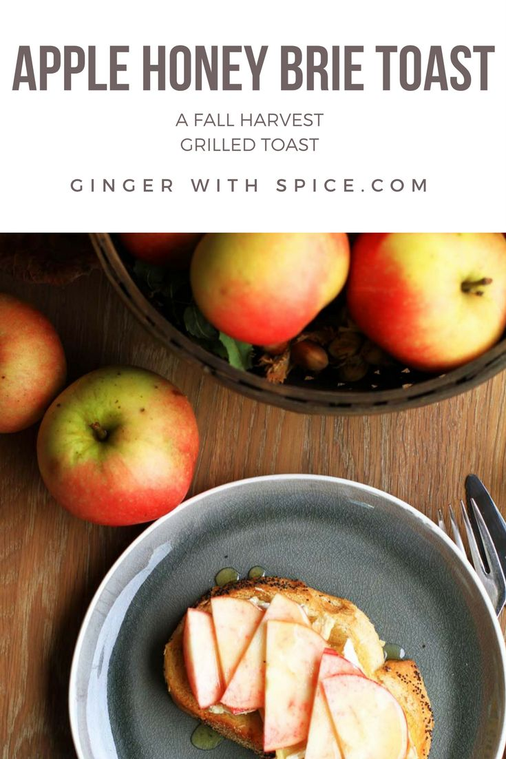 Apple Honey Brie Toast is the Fall toast to try. Tart apples, with the nutty, earthy flavor of brie with the sweet honey was an incredible combination. Brie is a mild, buttery cheese that goes very well with sweet flavors such as honey and apples. Click to find the recipe!