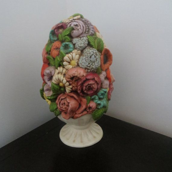 Holland Mold Vintage Floral Ceramic Piece By
