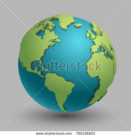 Stock vector modern 3d world map concept isolated on transparent stock vector modern 3d world map concept isolated on transparent background world planet vector earth sphere illustration gumiabroncs Image collections