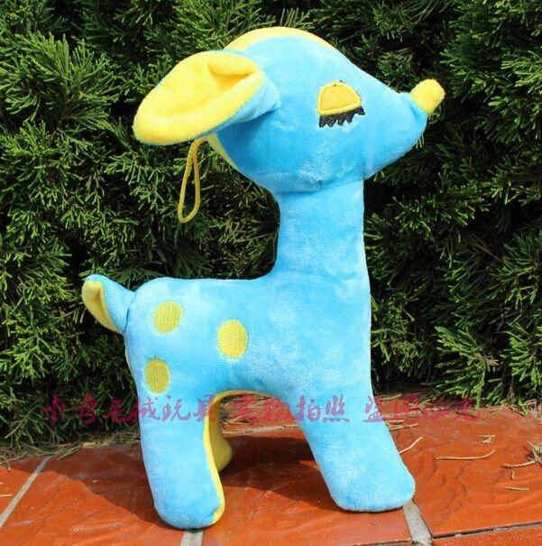 5 шт. милый синий салон оленей игрушки прекрасный плюшевый салон оленей мягкая игрушка свадебный подарок около 30 см
