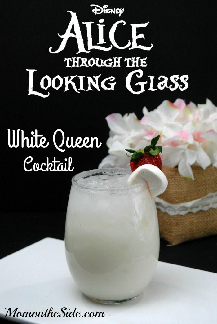 This White Queen Cocktail is a delicious adult beverage inspired by Alice Through the Looking Glass. If you want a mixed drink with alcohol, give this a try!