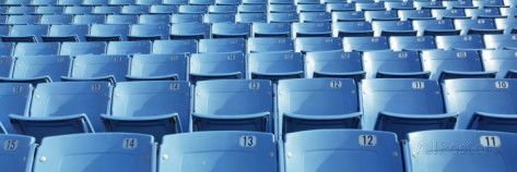 Empty Blue Seats in a Stadium, Soldier Field, Chicago, Illinois, USA Photographic Print by Panoramic Images at AllPosters.com