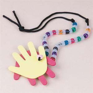Helping Hands Necklaces Preschool Day 3 [crafts]