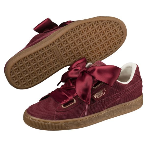 Basket Heart Corduroy Women's Sneakers