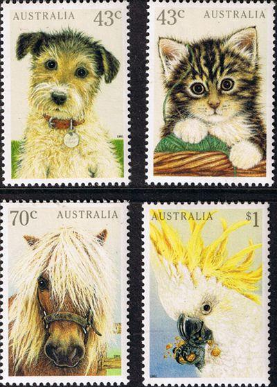 Australia 1991 Domestic Pets Set Fine Mint SG 1299 1302 Scott 1222 5 Other  Australian Stamps HERE