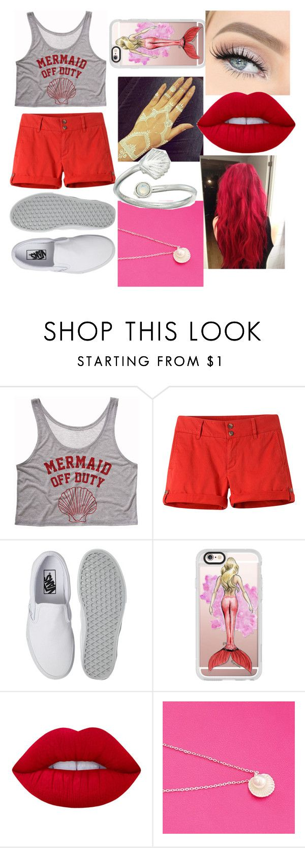 """""""Mermaid off duty"""" by shawnslittlemuffin ❤ liked on Polyvore featuring Mountain Khakis, Vans, Casetify, Lime Crime and Alex and Ani"""