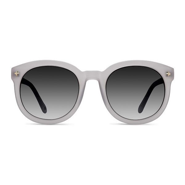 Women's Paige - White round - 16797 Rx Sunglasses ($49) ❤ liked on Polyvore featuring accessories, eyewear, sunglasses, vintage round glasses, white lens sunglasses, white round sunglasses, round glasses and lens glasses