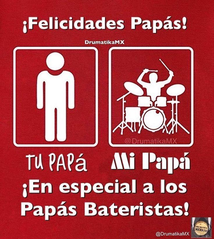 De parte de @DrumatikaMX Feliz día del padre. #FelicidadesPapás #FelizDíaDelPadre #FelicidadesPapáBaterista #Batería #DíaDelPadre #Bateristas #Papá #PapásDelRock #Papá