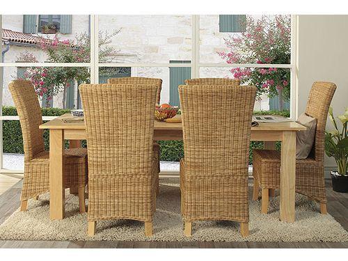 6x Stuhl Rattan Fineline Esszimmer Stühle Rattanstühle Möbel NEU NICO kaufen bei Hood.de