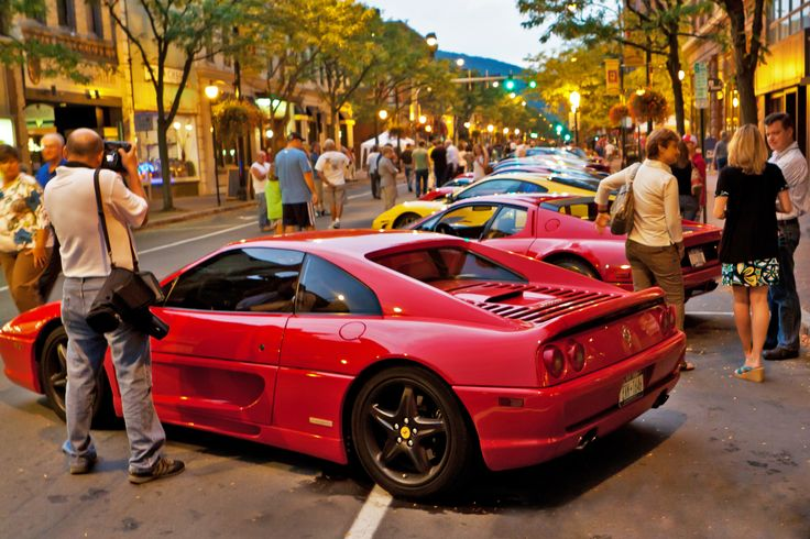 The Ferrari Show -- another great event in Corning's Gaffer District! #MostFun #BestoftheRoad | Corning is the Most Fun Small Town in America | Pinterest | Fe…