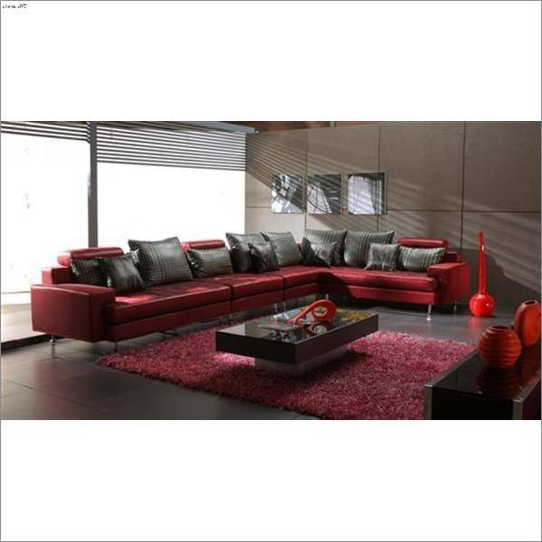 Beautiful Red Sectional Sofa : dark red sectional sofa - Sectionals, Sofas & Couches