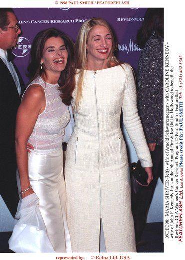 Maria Shriver with JFK jrs wife Carolyn