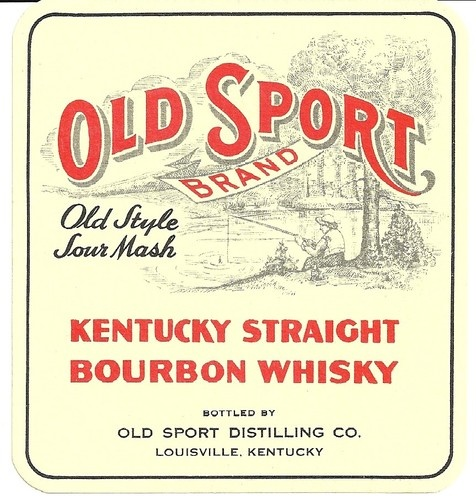 Old Sport Brand Old Style Sour Mash Bourbon Whiskey Label