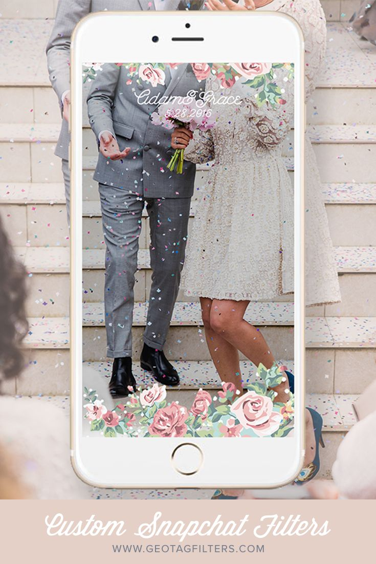 Custom Snapchat Filter for Weddings www.geotagfilters.com