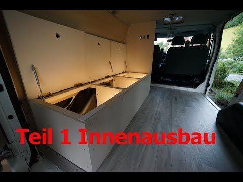 Camper Ausbau Folge 5 / Teil 1 Innenausbau/ Bett/ Stauraum/ Beleuchtung - YouTube