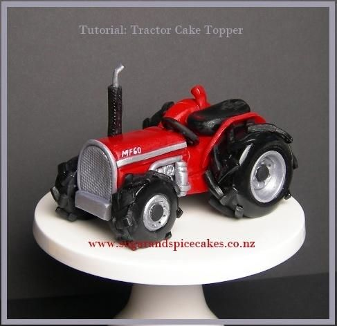 Tractor Cake topper with FREE Tutorial