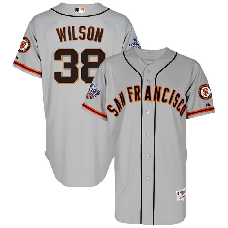 Brian Wilson San Francisco Giants Majestic 2010 World Series Road Authentic Player Jersey - Gray