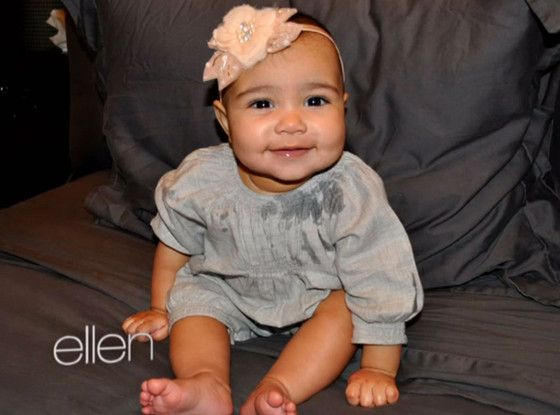 Kim Kardashian Shares New Pics of Baby North West...Nori is really cute but not a fan of her parents