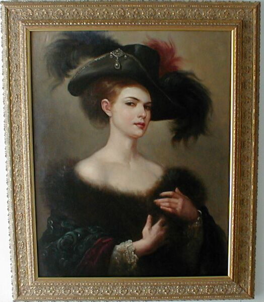 Vintage Paintings Of Women Antique Oil Pai...