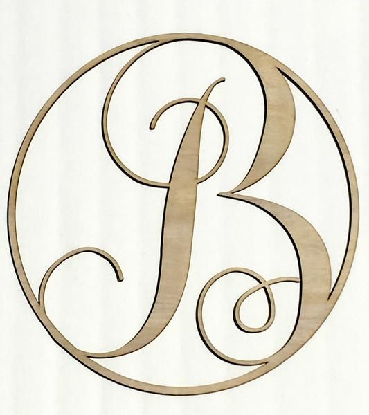 21 Best Wood Circle Letter Images On Pinterest Wood Monogram