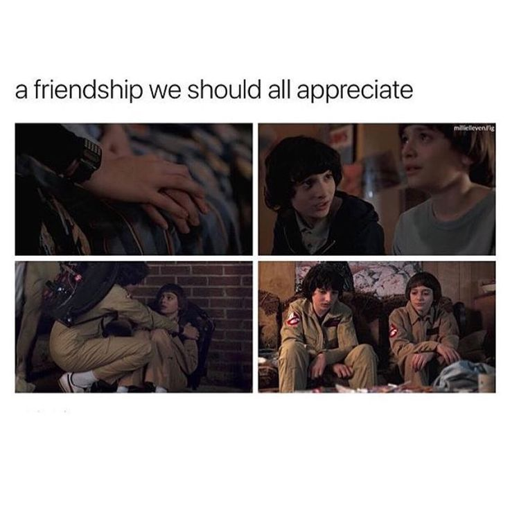 "2,428 Likes, 13 Comments - 6.3k/Crazy Together. (@noah.byers.schnapp) on Instagram: ""Fine friendship we'll just leave it at that lol - Creds to @millielleven """