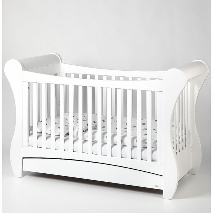Troll Sleigh Cotbed White Description The Sleigh Cot Bed