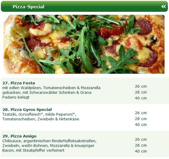 Das Pizza Team vom Pizza Taxi Erfurt Nord bietet regelmäßig neben den Pizza Klassikern auch eine Auswahl an Pizza Specials für Pizza Fans.