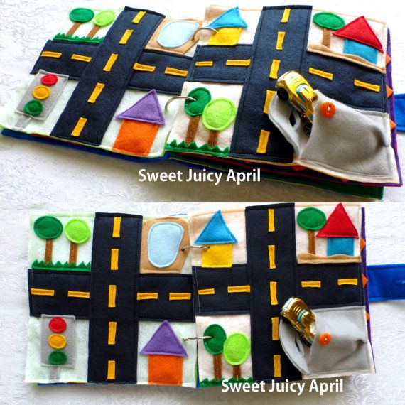 CUSTOMIZED Felt Quiet Activity Book for Babies by SweetJuicyApril