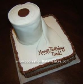 Homemade Toilet Paper Roll Birthday Cake Birthdays