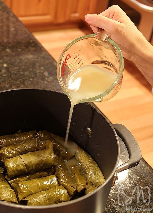 dolmades (stuffed grape leaves)..I always want to try these at home ...