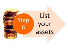 Step 6 of the 100 steps to financial organization: list your assets