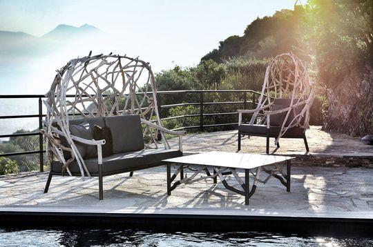 Le bois flotté tient la vedette sur la terrasse de Bleu Nature - Maison & Objet : nos 25 coups de coeur 2015 - CôtéMaison.fr