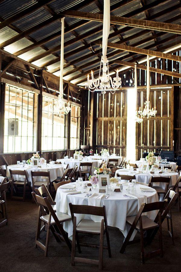 elegant + rustic barn wedding reception