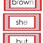 Dolch Primer Sight Words Flash Cards - simply color coded to assist students learn how to sound out, as well as read. Print out, laminate and hole ...