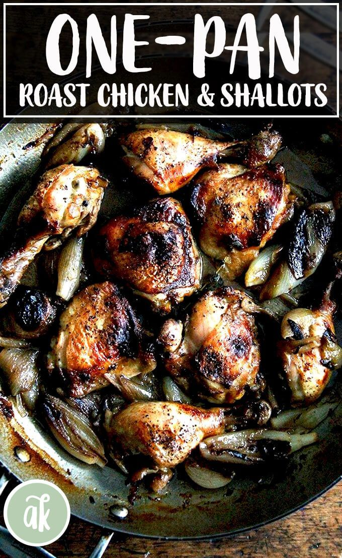 This one-pan roast chicken with shallots is simple: brown shallots; add mustard,…   – Weeknight Dinners