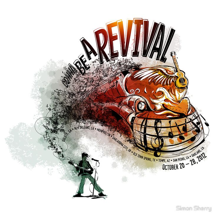 Gonna Be a Revival - My entry into the 2012 Railroad Revival T-Shirt Design Contest