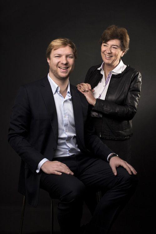 Patricia de Nicolaï with her son Axel