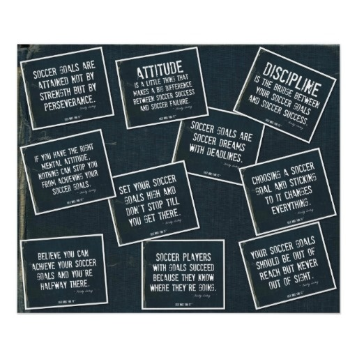 Soccer Quotes 10 Poster Collage in Denim on Denim