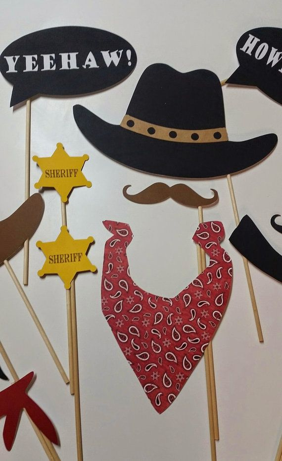 Howdy Cowboy 16 Piece Photo Booth Props/ Western Party/Cowboy