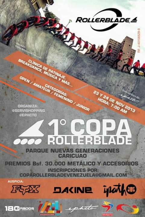 """Cresta Metálica Producciones » Primera """"Copa Rollerblade Venezuela"""" este 23 y 24 de noviembre en Caracas!!"""