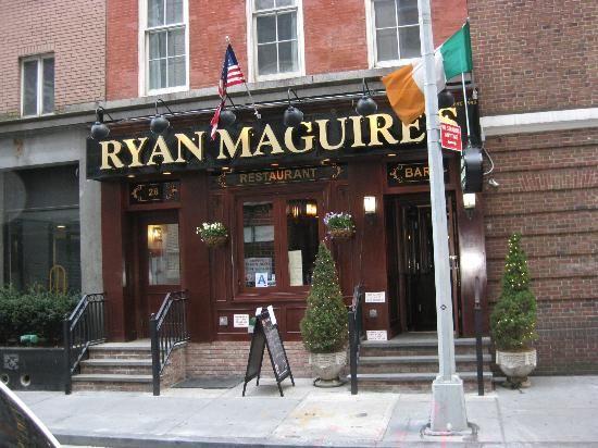 Ryan McGuire's AleHouse ~ near 911 Tribute Center 41/2* on Trip Advisor 28 Cliff Street (212) 566-6906
